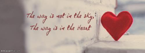 Quote About Heart Facebook Cover Photos -  Facebook Covers