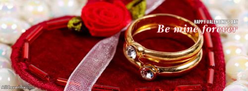 Ring Be Mine Forever Valentines Day FB Covers -  Facebook Covers