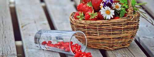 Strawberry Bucket Cover Photos For Facebook -  Facebook Covers
