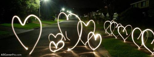 Stree Light Hearts FB Cover -  Facebook Covers