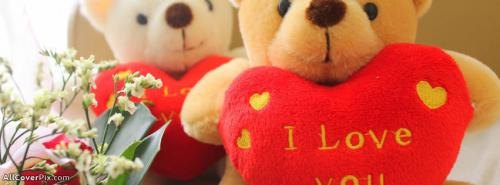 Teddy Bear Love You Facebook Cover Photos -  Facebook Covers