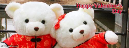 Teddy Couple Happy Valentines Day Covers For FB -  Facebook Covers