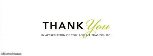 Thank You Facebook Cover Photos -  Facebook Covers