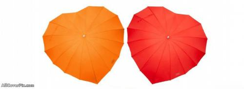 Umbrella Heart Facebook Covers -  Facebook Covers