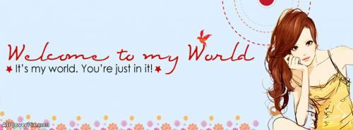 Welcome To My Timeline Facebook Cover -  Facebook Covers