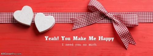 You make me happy facebook cover -  Facebook Covers