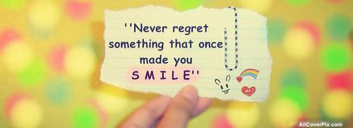 Latest Smile Quote Fb Cover Photos -  Facebook Covers